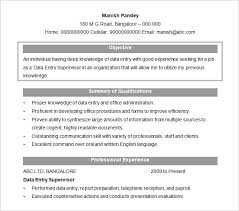 resume objectives –    free sample  example  format download    free data entry supervisor resume objective template doc format