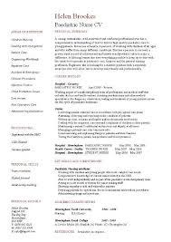 paediatric nurse cv template