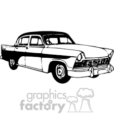 black and white classic car clipart antique classic black