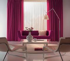 minimalist living room design with beautiful hot pink fabric rod pocket living room curtain panel and exquisite blue beauteous pink blue