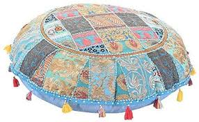"ANJANIYA 32"" Beautiful Bohemian <b>Round</b> Indian <b>Patchwork Pouffe</b> ..."