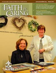 faith in caring by concordia lutheran ministries issuu faith in caring 15