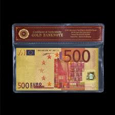 holiday certificates promotion shop for promotional holiday colorful gold banknote euro paper money 500 eur currency banknotes collections crafts holiday gift gold certificate