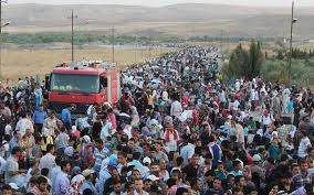 Image result for Images of refugee mass migration