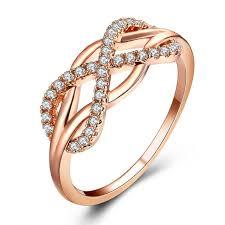 Cross Infinite Cubic <b>Zirconia</b> Ring Knuckle <b>Crystal</b> Rings For <b>Women</b> ...