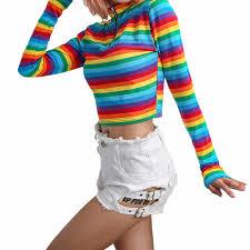 Winter New <b>Unisex</b> Cotton <b>Rainbow</b> Striped Socks Xmas Fashion ...