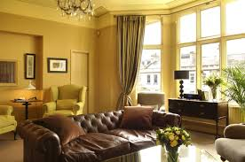 living room beautiful yellow curtains with beautiful brown living room