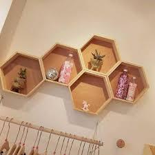 3Pcs/Set <b>Nordic Style</b> Kids Room <b>Decoration</b> Shelf Honeycomb ...
