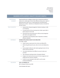 business intelligence analyst resume samples and skills business intelligence job