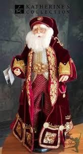 Plum on Plum <b>Santa</b>, OOAK, by Cynthia. <b>Exquisite embroidery</b> on a ...