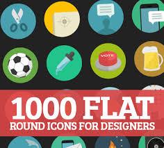 1000 flat round icons vector bundle basic icons flat icons 1000