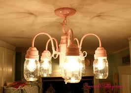 diy mason jar pendant lamp hometalk shabby chic mason jar chandelier build diy mason jar chandelier