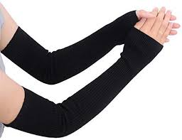Women's Cotton Arm Warmers Super <b>Long 19.7</b>Inch (<b>50cm</b>) Winter ...