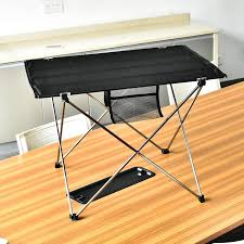 <b>Portable Folding</b> Table Picnic Outdoor Dining Table Ultralight Black ...