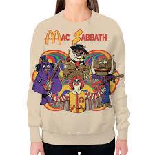 Заказать свитшот женский с полной запечаткой <b>Mac</b> Sabbath ...