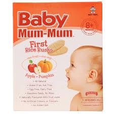 <b>Baby Mum</b>-<b>Mum Apple &</b> Pumpkin First Rice Rusks 36g | Baby ...