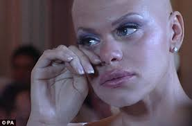 Tragic: Reality TV star Jade Goody, pictured on her wedding day in 2009, died of cervical cancer while Caroline Bull was conning friends that she had the ... - article-1368153-03D6997A000005DC-0_468x307