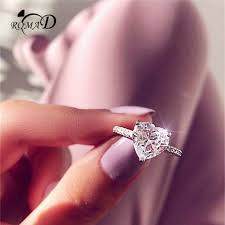 <b>Romad</b> Luxury Small Heart Ring Fashion <b>Crystal</b> Finger Ring <b>Silver</b>