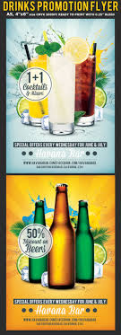 drinks promotion advertising flyer template flyerstemplates drinks promotion advertising flyer template