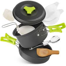 Portable <b>2 3 Persons Cookware</b> Bowl Pot Spoon for Outdoor ...