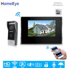 <b>HomeEye 720P</b> 7inch HD Video Door Phone Video Intercom House ...