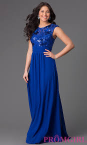 Fitted Bodice Dress Fitted Dresses Long Sleeveless Sequin Lace Bodice Gown