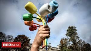 Jeff Koons' Paris Bataclan <b>sculpture</b> mocked as 'pornographic' - BBC ...