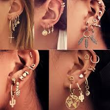 Vintage Mixed Metal Drop Dangle Earrings Set For Women Ear ...