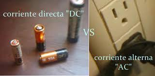 Resultado de imagen para corriente alterna vs corriente continua
