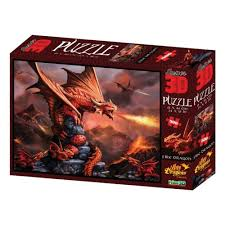 <b>Стерео пазл PRIME 3D</b> Огненный дракон, 500 элементов ...