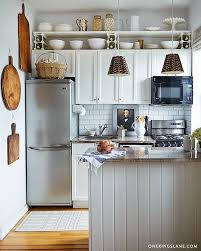 functional mini kitchens small space kitchen unit: one kings lane on instagram our mepflug shares her storage solutions for teeny kitchens on our blog but mostly those hanging vintage cutting