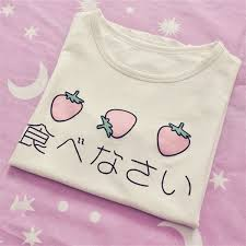 <b>Japanese</b> Delicious Eggs & Strawberry <b>Kawaii</b> T-<b>Shirts</b> | <b>Cute</b> ...