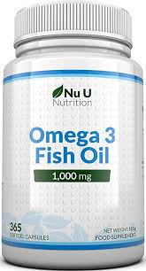 <b>Omega 3 Fish Oil</b> 1000mg 365 Softgels 1 Year Supply - Pure Fish ...