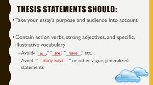 writing workshop 1 the introduction paragraph prepared by 30 thesis statements should take your essay s purpose