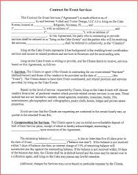 event decorator contract event planning contract templates