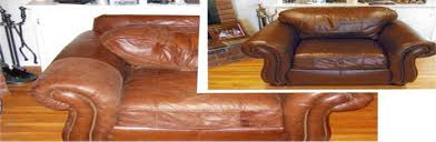 Image result for brown leather couch restored