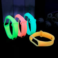 <b>New</b> Luminous <b>Silicone Replacement</b> for Xiaomi Mi Band 3 4 Watch ...