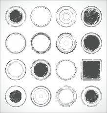<b>Гранж</b> круглые бумажные <b>наклейки</b> черно-белый вектор Вектор ...