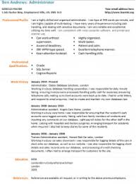 administrator cv template   learnist org