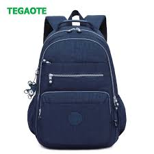 TEGAOTE <b>2019</b> New Nylon Women <b>Backpack</b> Solid Color Women ...