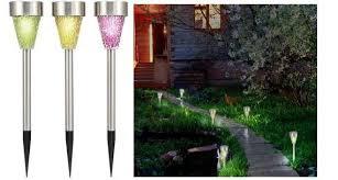 Renkforce Solar <b>garden</b> light Mosaik <b>3</b>-<b>piece</b> set LED RGB Multi ...