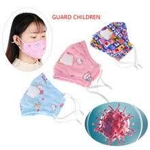 1Pc Cotton PM2.5 Children Mouth <b>Mask Anti Dust</b> Smoke Allergies ...