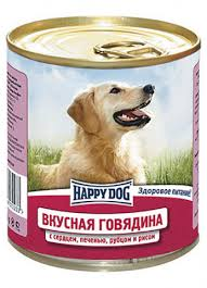 <b>Happy Dog Консервы</b> для собак говядина с сердцем, печенью ...