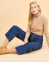 Wide-leg button-fly <b>jeans</b> — <b>12Storeez</b>