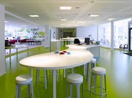 charming hi tech office design with colorful mural paintings on awesome white wooden unique table including awesome cool office interior unique