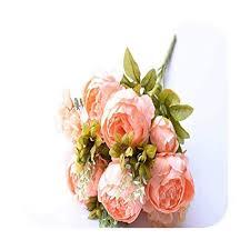Ink White 13 Heads/Bouquet Artificial Flowers Silk ... - Amazon.com