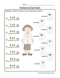 Multiplication Worksheets - Have Fun TeachingMultiplication Worksheet 1