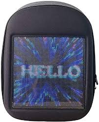 Buy Novel <b>Smart LED</b> Backpack Cool Black <b>Customizable</b> Laptop ...