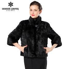 2016 New style women's fur coat, Black short-sleeve fashion fur vest ...