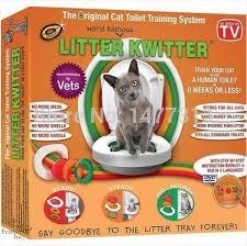 <b>Litter Kwitter</b> cat toilet training Professional training cats use the toilet ...